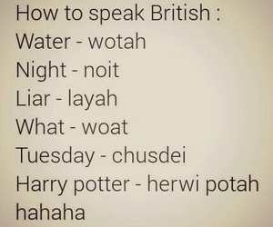 british, funny, and harry potter image