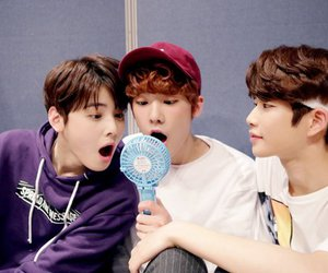 mj, rocky, and moonbin image
