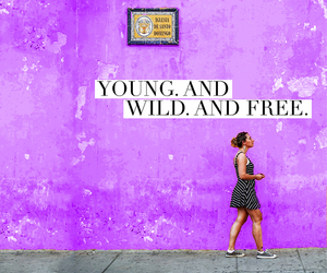 girl, young, and free image