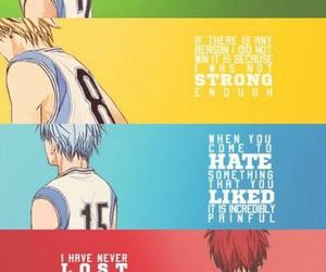 anime, kuroko no basket, and quotes image