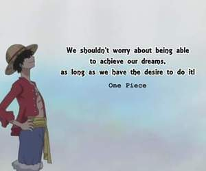 Dream, dreams, and one piece image