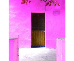 door, pink, and places image