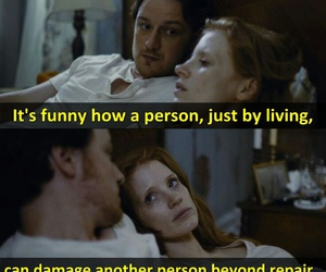 damage, james mcavoy, and jessica chastain image