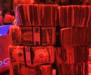 red, glow, and money image