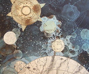 art, stars, and aesthetic image