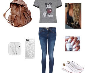 outfit, Polyvore, and school image