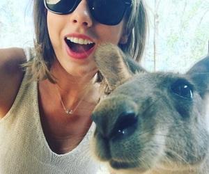 Taylor Swift, kangaroo, and selfie image