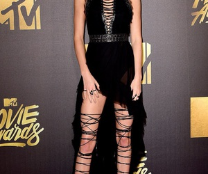 kendall jenner, black, and dress image