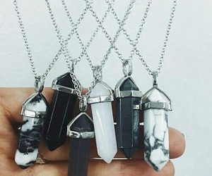 necklace, black, and white image