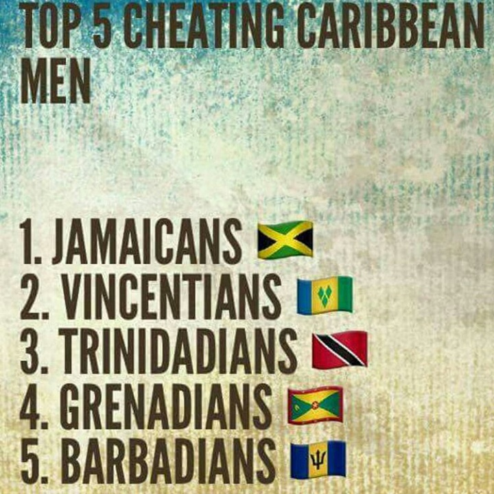 Do cheat why jamaican men Jamaican Men,