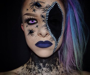 dyed hair, spiders, and tumblr image