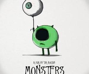 monster, tim burton, and eye image