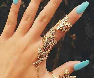 blue, nice, and prettynails image