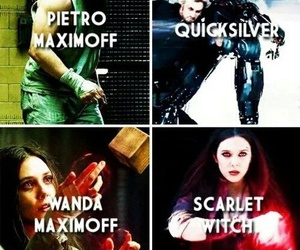 quicksilver, Avengers, and scarlet witch image