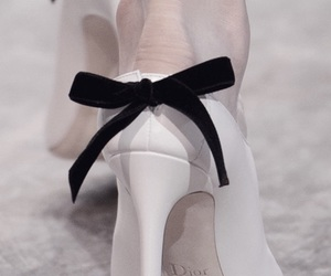 black, Christian Dior, and bow image