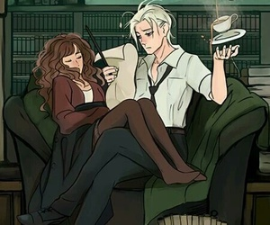harry potter, dramione, and draco malfoy image