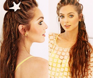 braids, bronze, and bun image