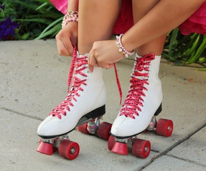 patins, roller, and girls patins image