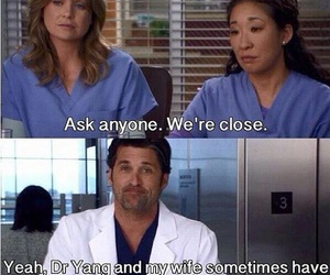funny, greys anatomy, and person image