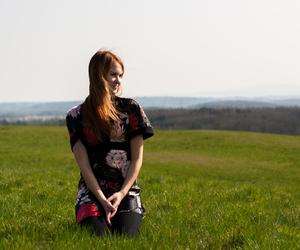 dress, happy, and walk image