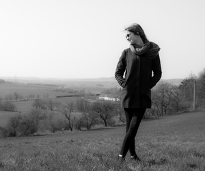 girl, hair, and hill image