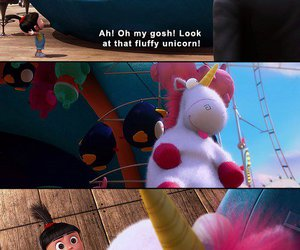 unicorn, despicable me, and fluffy image