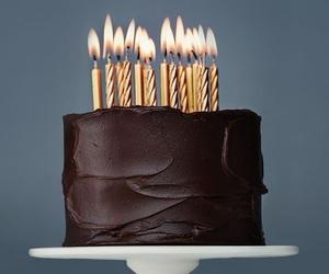 cake, chocolate, and birthday image