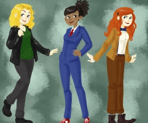 amy, rose tyler, and companion image