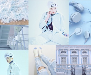 aesthetic, baby blue, and blue image