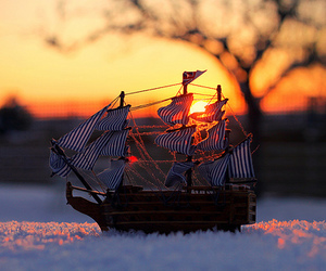 snow, ship, and photography image