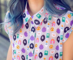 adventure time, hair, and purple image