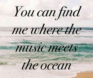 music, ocean, and quotes image