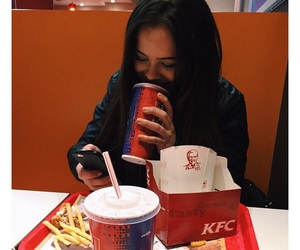 girl, food, and KFC image