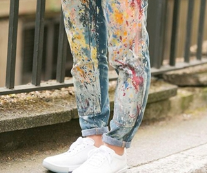 fashion, paint, and sneakers image