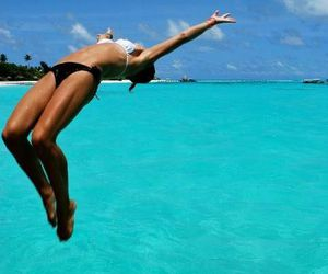 blue, swimsuit, and travel image