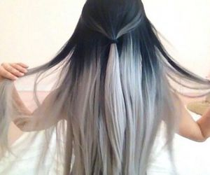 color, dyed hair, and grey image