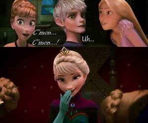 disney and jack and elsa image