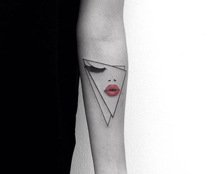 tattoo and lips image