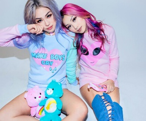 clothes, fashion, and hair color image