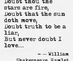 Hamlet, shakespeare, and love image
