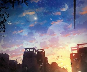 anime and sky image