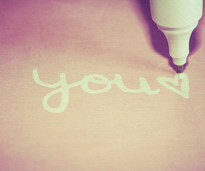 you, love, and heart image