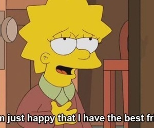 best friend, the simpsons, and yellow image
