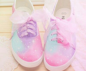 shoes, pastel, and galaxy image