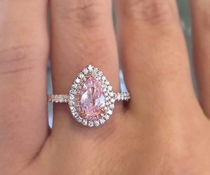 diamond, pink, and love image