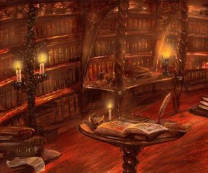 library and fantasy image