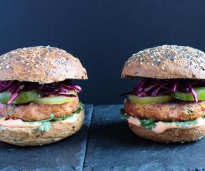 burger, food, and veggie image