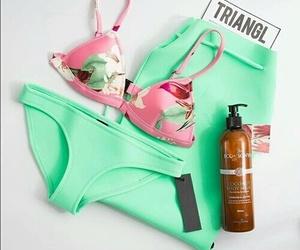 summer, beach, and bikini image