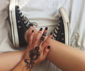 converse, black, and tattoo image