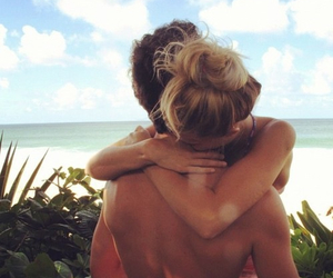 beach, holiday, and in love image